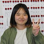 神奈川県立横須賀大津高校ソフトテニス部二本木真智さん